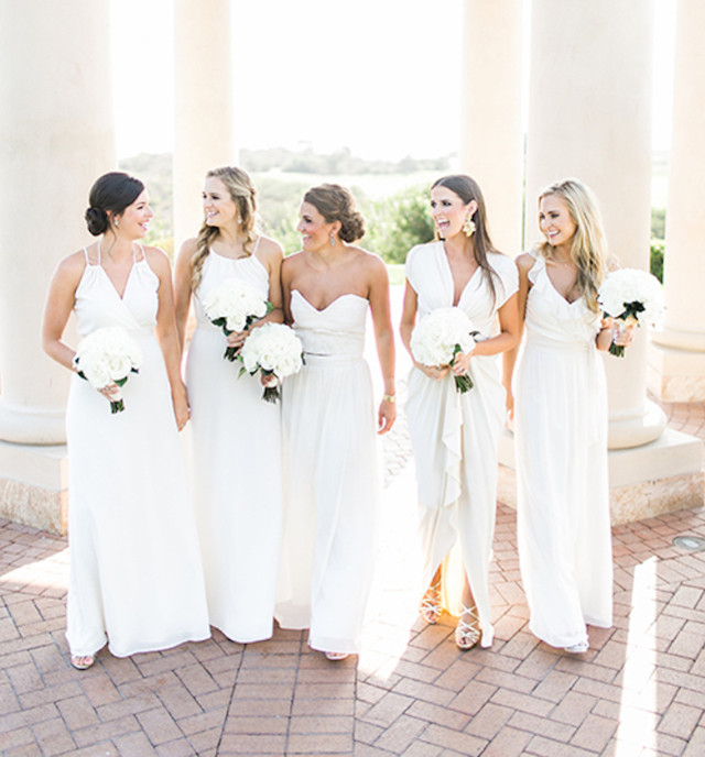 These brides are ok with you wearing white at their wedding wheretoget these wives to be show us no one will ever outshine the bride even if youre wearing white not even you pippa middleton bring on the all white wedding junglespirit Image collections