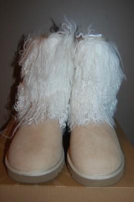 UGG Australia Sheepskin Cuff in Sand Natural US Size 5 10 Womens Boots | eBay