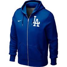 LA Dodger Sweatshirts : Nike L.A. Dodgers Classic Full Zip Hoodie - Royal Blue