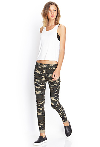 Camo Skinny Jeans | FOREVER21 - 2000105665