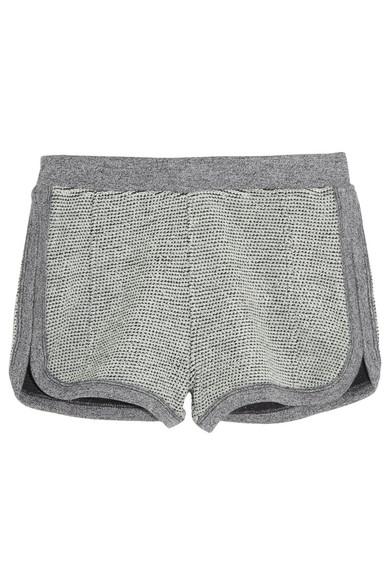 T by Alexander Wang|Rainbow cotton-terry shorts|NET-A-PORTER.COM