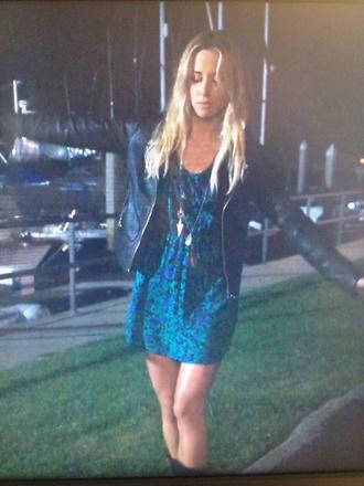 dress gillian zinser blue floaty boho dress