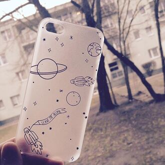 phone cover yeah bunny stars universe moon planets galaxy print clear matte iphone cover iphone case iphone space