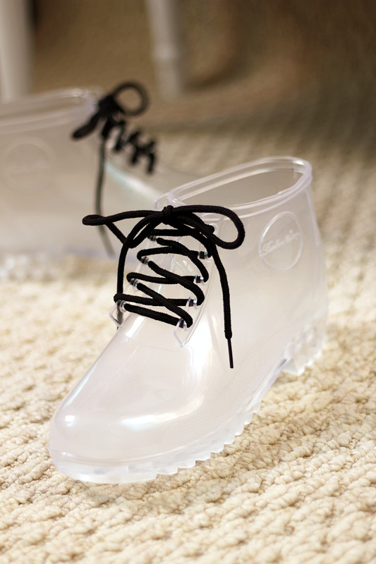 Crystal rain boots transparent rainboots female fashion slip resistant martin boots jelly low-inBoots from Shoes on Aliexpress.com