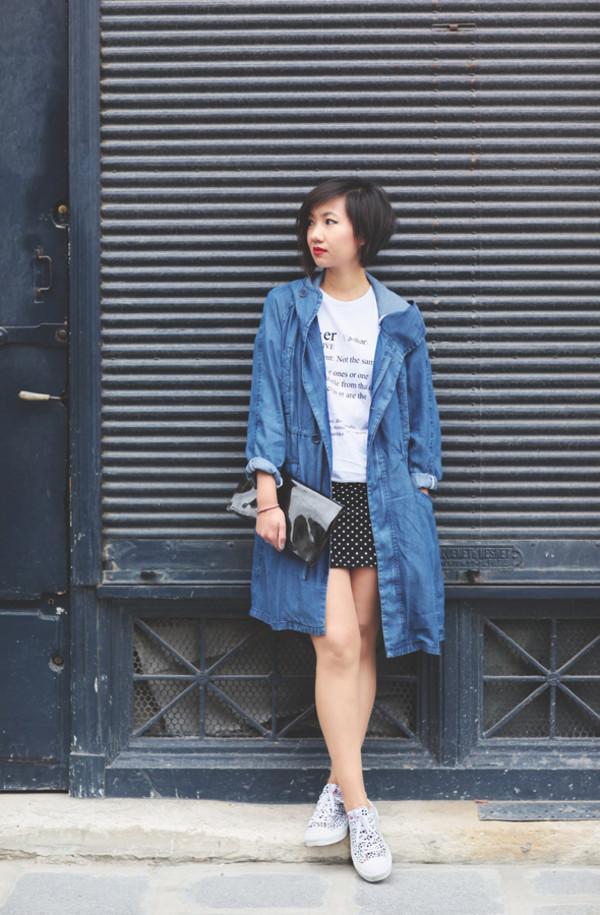 le monde de tokyobanhbao coat t-shirt shirt skirt tights shoes jewels make-up bag