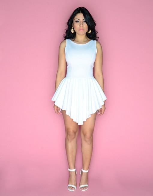 WHITE MARILYN DRESS  | Brittany DeShields