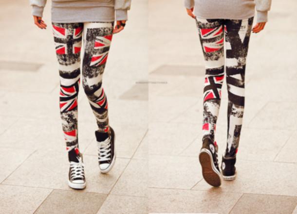 pants clothes jeans union jack red white and blue union jack leggings amazing