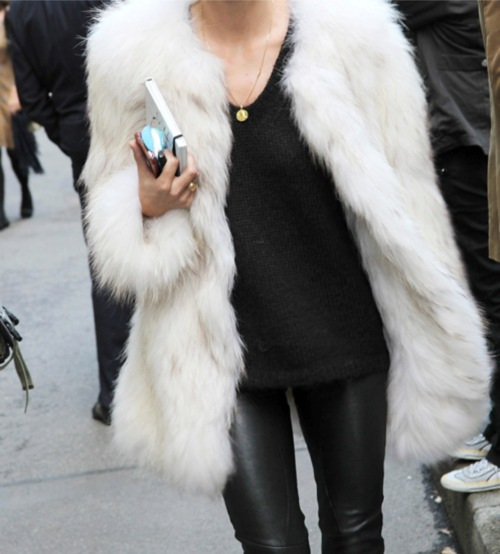 Celebstyle White Cream Faux FUR Coat Jacket | eBay