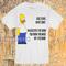 Blue jeans white shirt homer simpson t-shirt - teenamycs