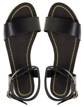 ASOS | ASOS FREEDOM Leather Flat Sandals at ASOS