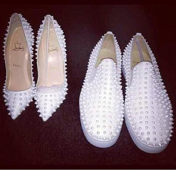 shoes white white shoes mens shoes women shoes casual shoes spikes
