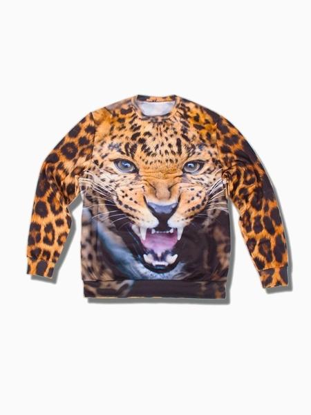 Leopard Print Sweatershirt (Women or Men)   Choies
