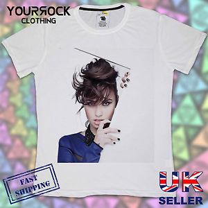 Demi Lovato Blue Mens T Shirt Designer Summer Short Sleeve T Shirt | eBay
