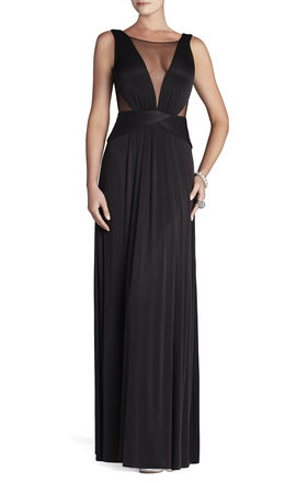 Magdalena Draped Jersey Evening Gown | BCBG