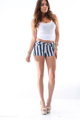 Striped Blue Shorts