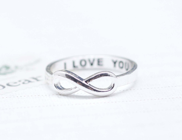 I LOVE YOU Infinity Ring In Silver on Luulla