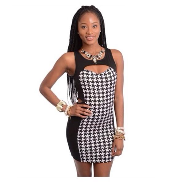 dress little black dress cut out bodycon dress