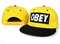 Obey Snapback Hat&Cap Yellow-Black [Obey025] - $7.50 :