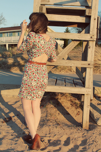 dress print floral selective potential red dress green dress