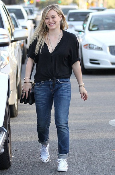 hilary duff converse shoes bag