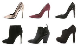 life in red lipstick blogger shoes stilettos ankle boots glitter shoes gold shoes suede heels