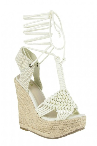 shoes wedges white heels trendy summer beach free vibrationz
