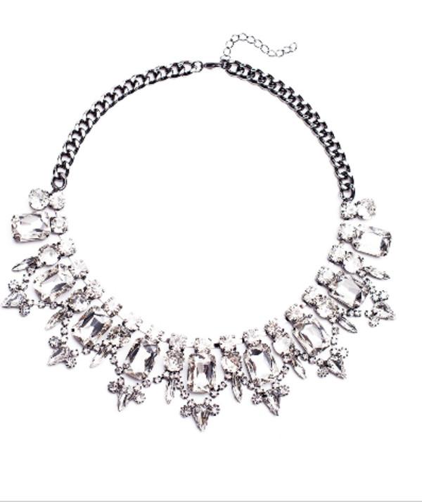 jewels necklace jewelry gems diamonds statement necklace crystal