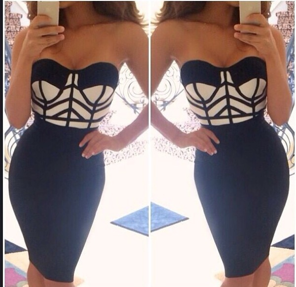 dress black and cream black black dress heart top halter dress