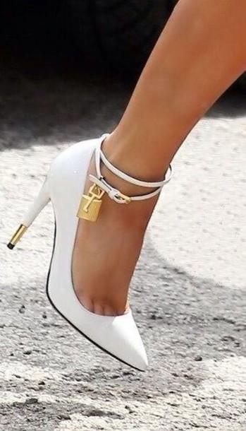 shoes dress tom ford high heels white heels