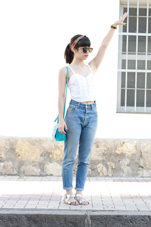 vintage shoes for her sunglasses top bag jeans shoes
