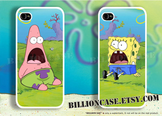 Patrick Star SpongeBob - iPhone 4 Case iPhone 5 Case iPhone 4s Case Galaxy Case Hard Plastic Case Rubber Case Movie Parody Shock Surprise ($30.00) - Svpply