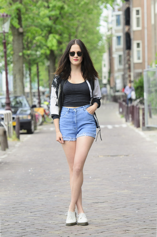 fashion fillers t-shirt shorts jacket shoes sunglasses