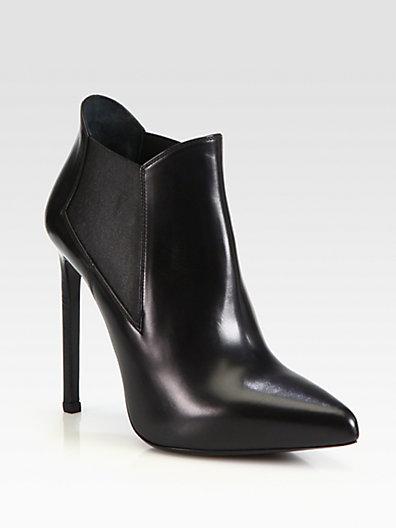 Saint Laurent - Paris Leather Ankle Boots - Saks.com
