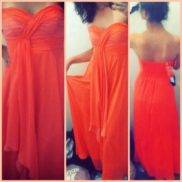 dress prom dress orange prom dress