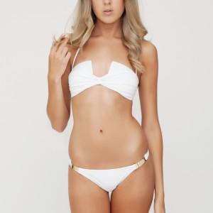 White Square Cut Bikini   Summer Tease