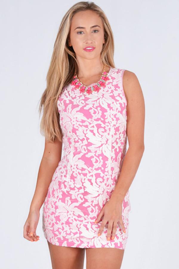 dress ustrendy dress mini dress floral embroidered dress pink dress ustrendy summer dress ootd