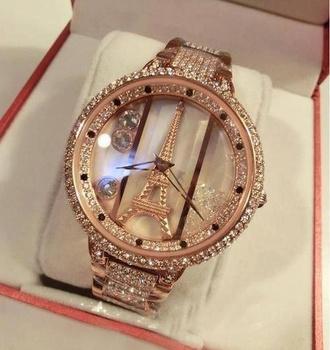 jewels eiffel tower jewelry crystal quartz watch watch colors vancaro