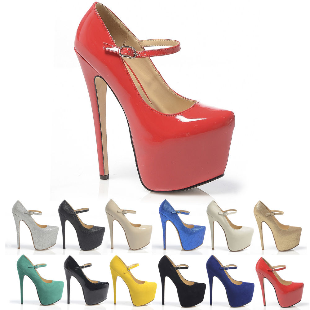 WOMENS NEW HIGH HEELS PLATFORM THIN FRONT STRAP PARTY SHOES LADIES | eBay