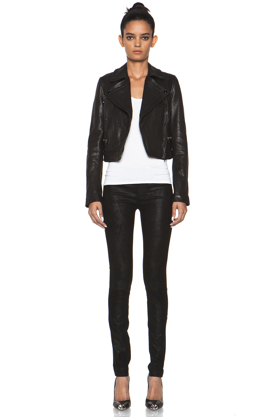 Proenza Schouler|Lambskin Motorcycle Jacket in Black