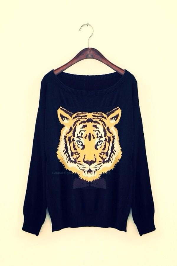 sweater tiger cute tiger sweater