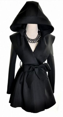 Hooded Windbreaker Long Slim Trench Coat - Juicy Wardrobe