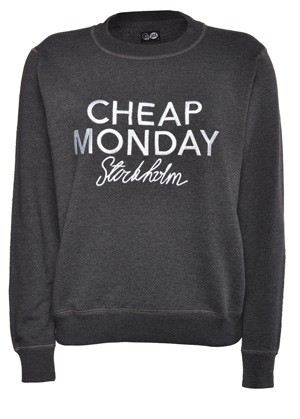 Cheap Monday Ellie Sweatshirt Black Melange - Sweatshirts | COUTIE