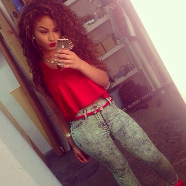 jeans denim red top outfit tumblr famous tumblr girl red hot india westbrooks shirt belt top blouse