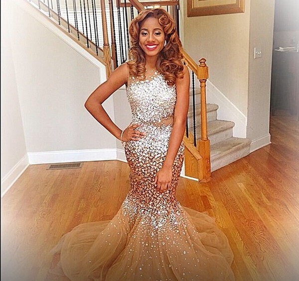 dress mermaid prom gown long