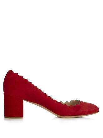 heel suede pumps pumps suede red shoes