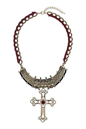 Ribbon Cross Collar - Topshop