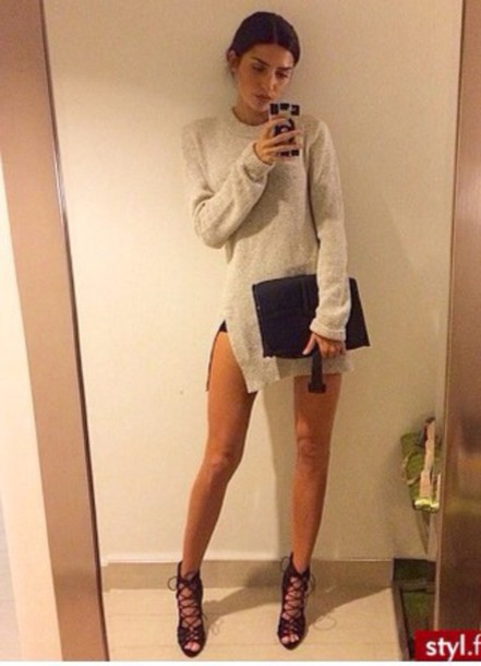 sweater oversized sweater warm classy night outfit