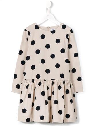 dress polka dots dress girl toddler polka dots grey