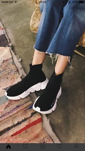 shoes kpop 2ne1 dara sneakers black white black and white high