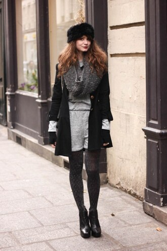 mahayanna blogger tights romper black shoes winter outfits shoes